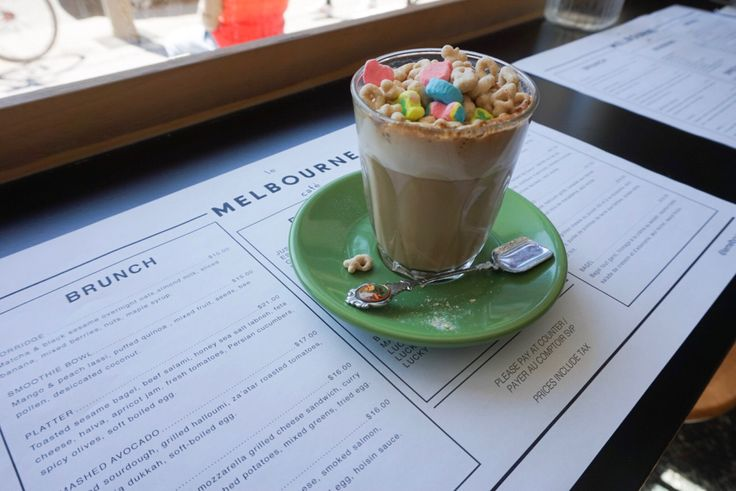 The lucky charm latte! Discover where in my post!