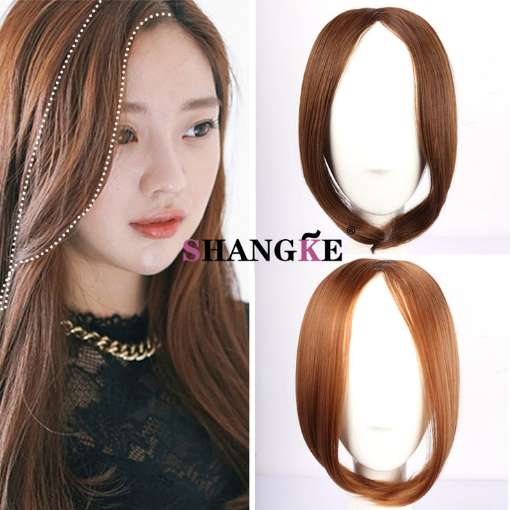 13 inch 43g  Bangs Clip in Bangs Front Hair Extensions Headband Hair Extensions Fringe Fake Hair Heat Resistant Synthetic Hair