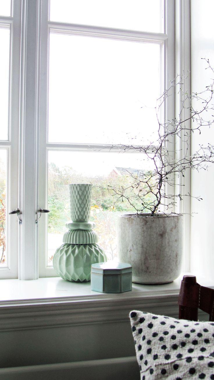 vases window sill