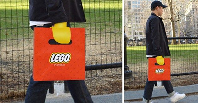 This Lego bag turns your hand into Lego: