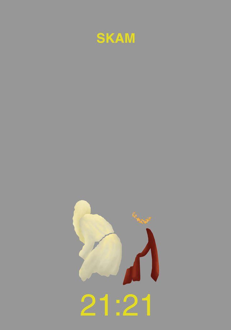 Skam Evak - Even + Isak Minimalist poster design fanart