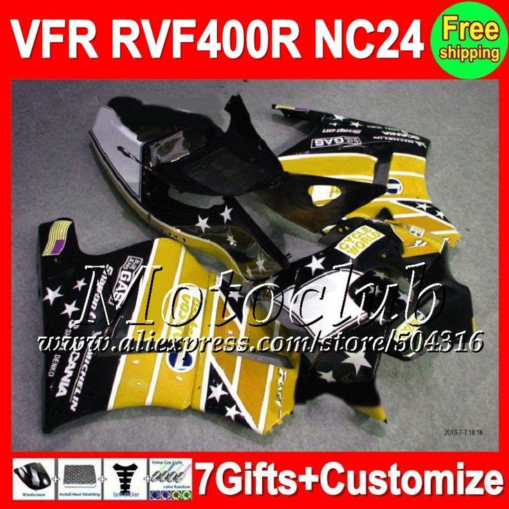 Желтый черный 7 подарки для HONDA VFR ниндзя-400r VFR400R NC24 87 88 88 желтый C54121 лрв ниндзя-400r RVF400R 87 - 88 1987 V4 1988 зализа