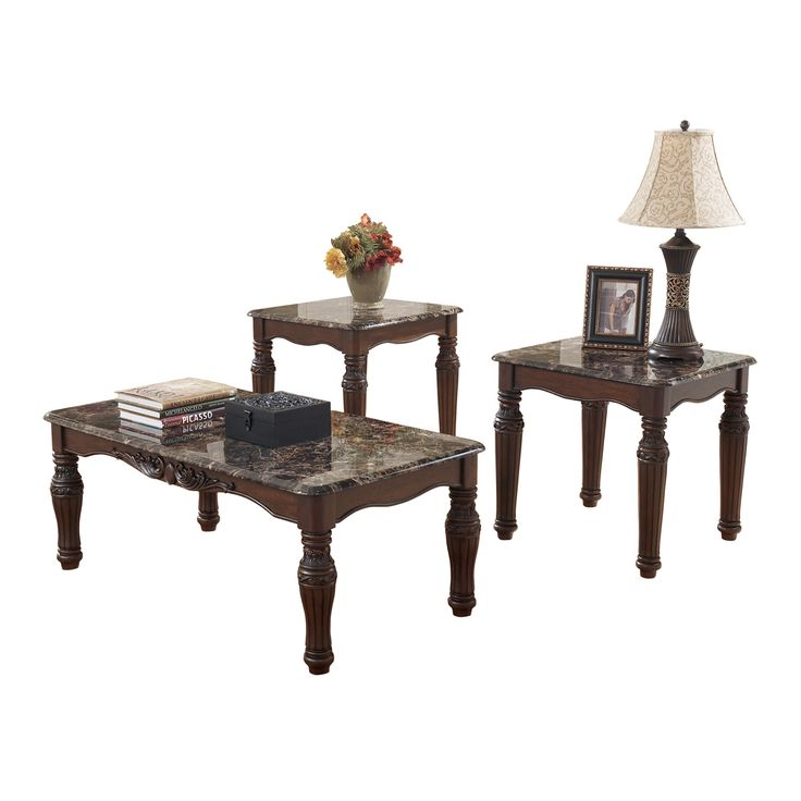 Signature Design By Ashley T533 13 North Shore Occasional Table Set Home Furniture Showroom