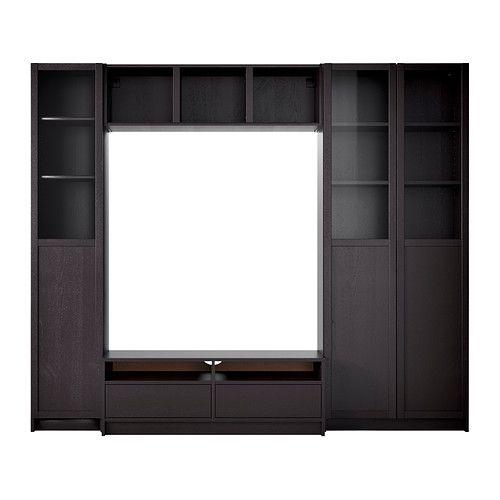 BILLY Boekenkastcombi m tv-meubel IKEA Verstelbare planken; naar behoefte aan te passen.