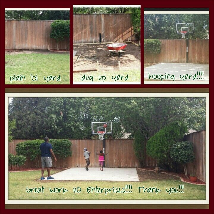 Back yard mini basketball court - work done by 110 Enterprises