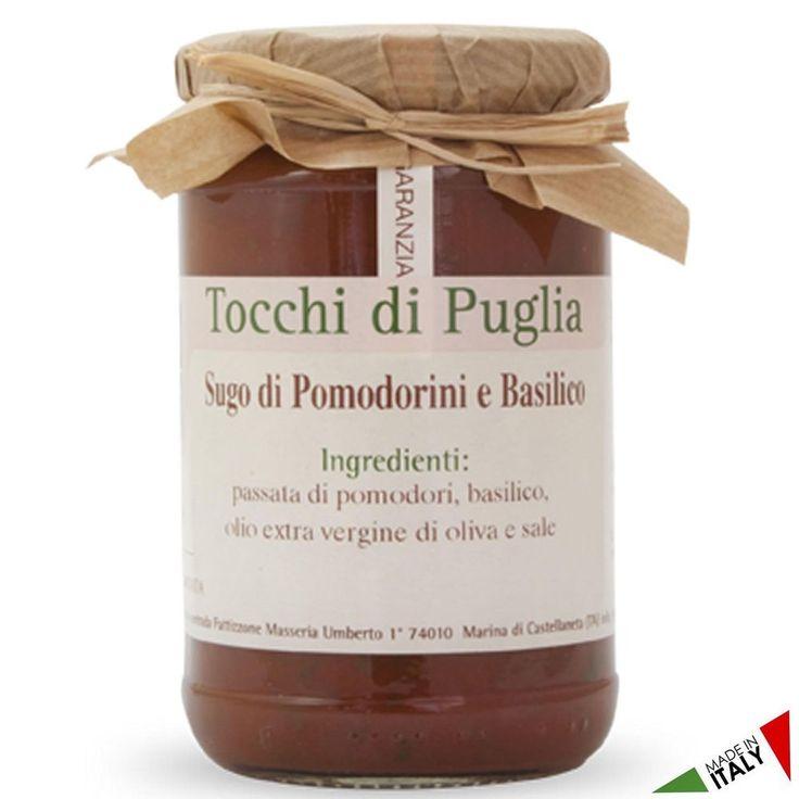 SUGO DI POMODORINI AL BASILICO GR 280 TOCCHI DI PUGLIA  (070919)