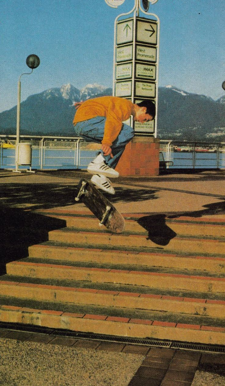 early 90's colin mckay plan b skateboards. i've always had a fascination with vert skaters skating street
