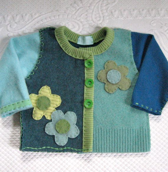 CHELSEA Cardigan made from recycled wool sweaters by heartfeltbaby, $75.00