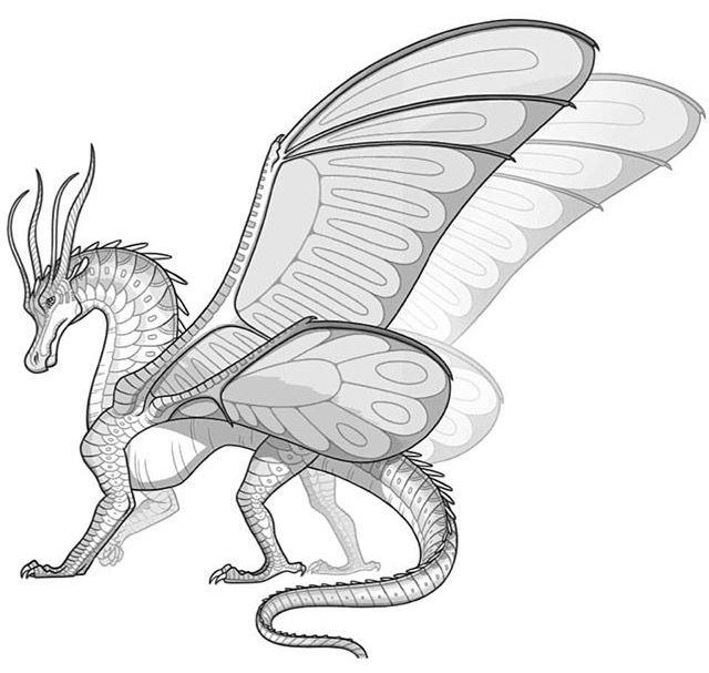 Wings of fire dragon coloring pages ~ SilkWing! New Dragon inhabiting a new continent - Pantala ...