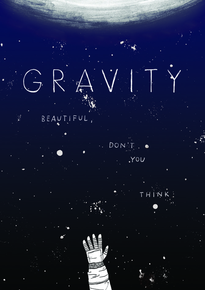 Made by Marianne Lock / Alternative Movieposter / Gravity / Film / Poster / FOR SALE