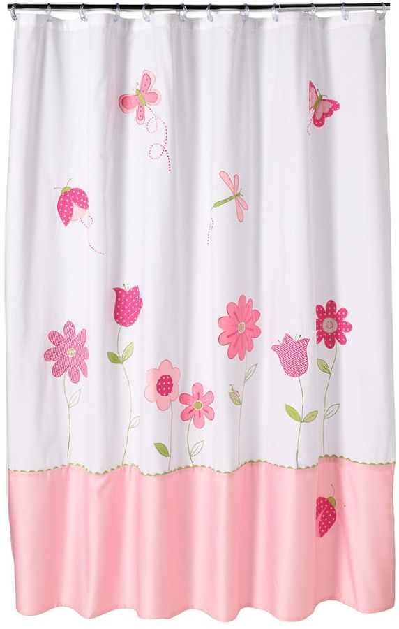 saturday knight ltd butterfly garden fabric shower curtain would make for cute wall dcor - Bathroom Accessories Kohl S