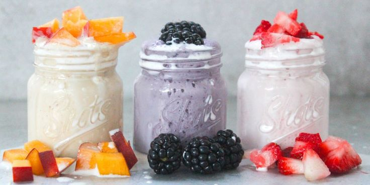 Fruity Milkshake Shots: It's hot out there. You deserve these cooling milkshake shooters made with rum and strawberries, peaches or blackberries. Instant party in hand.