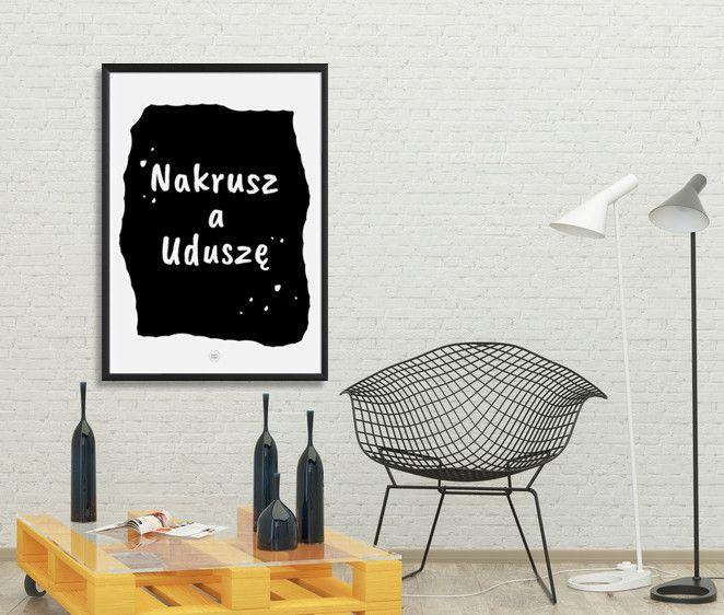 """Typografia A3 """"Nakrusz"""" - kingaberysuje - Plakaty typograficzne"""