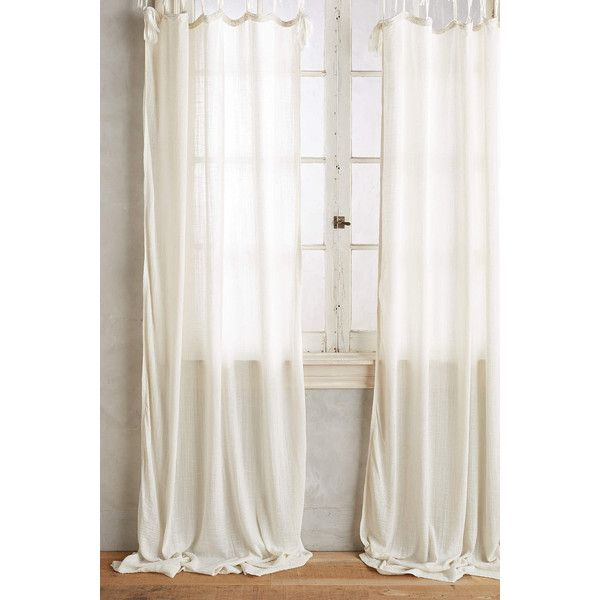 Awesome Anthropologie Cotton Tie Top Curtain (130 CAD) ❤ Liked On Polyvore  Featuring Home