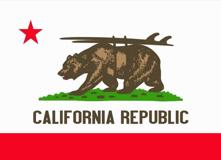 Revision of the #California Republic Flag...Bear and # ...