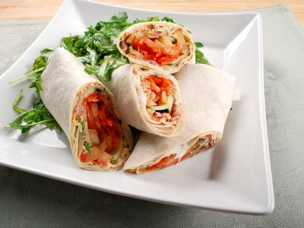 These child-friendly Mediterranean wraps are stuffed with a flavourful feta filling.