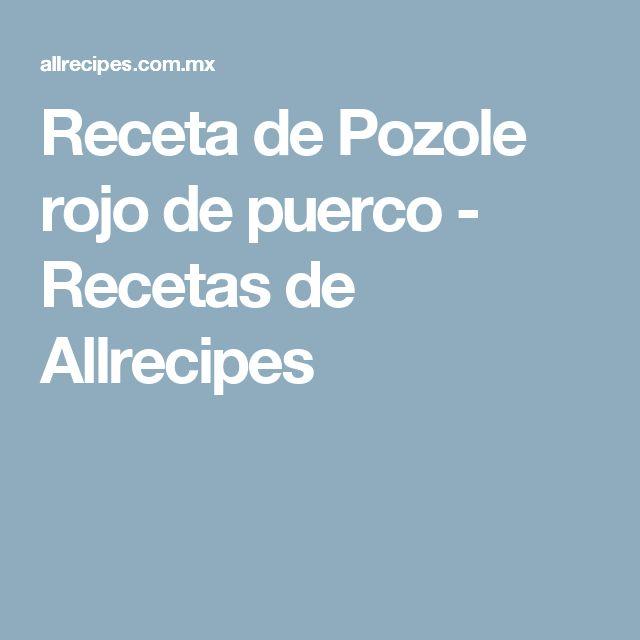 Receta de Pozole rojo de puerco - Recetas de Allrecipes