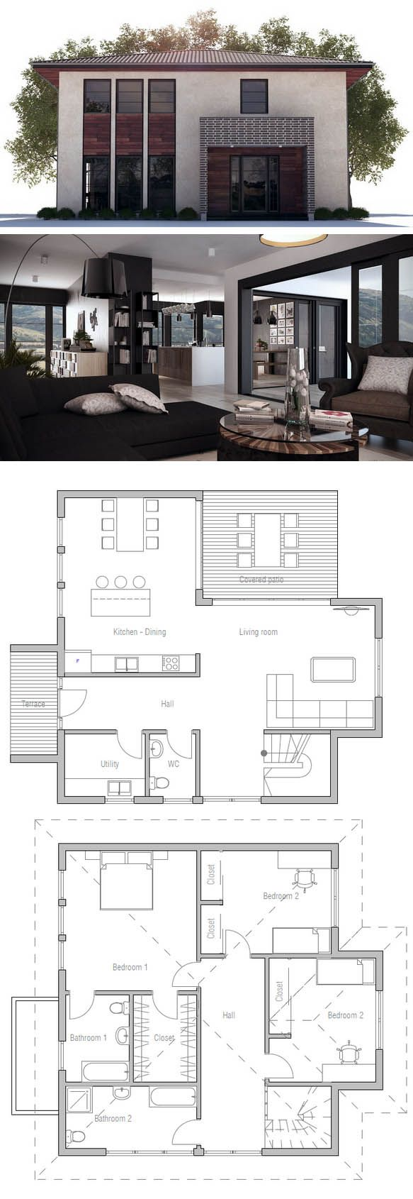 Affordable Home with three bedrooms Modern House
