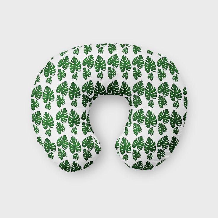 Boppy Cover Green Leaf, Nautical Nursery, Modern, Organic, Gender Neutral, Baby Boy, Baby Girl, Nursing Pillow Cover, boppy slipcover