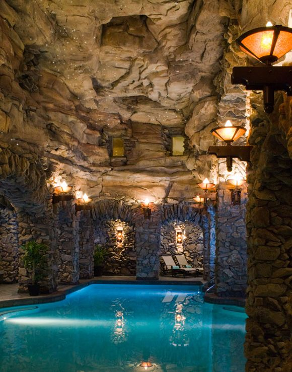 Can't wait to experience this spa pool! The Omni Grove Park Inn in Asheville, NC #grotto #pool