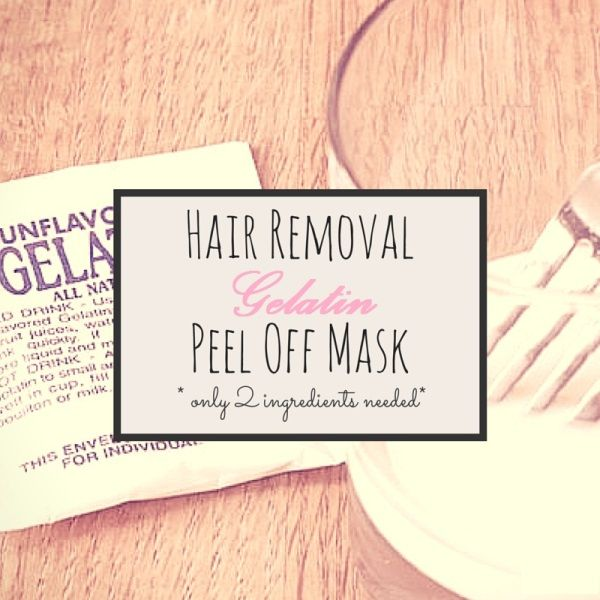 Gelatin Peel-Off Mask to Remove Facial Hair