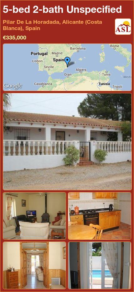5-bed 2-bath Unspecified in Pilar De La Horadada, Alicante (Costa Blanca), Spain ►€335,000 #PropertyForSaleInSpain