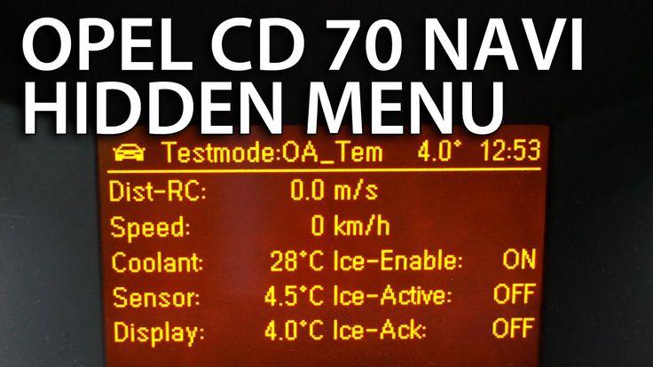 #Opel #Astra GID & CD 70 NAVI hidden menu (#vauxhall)