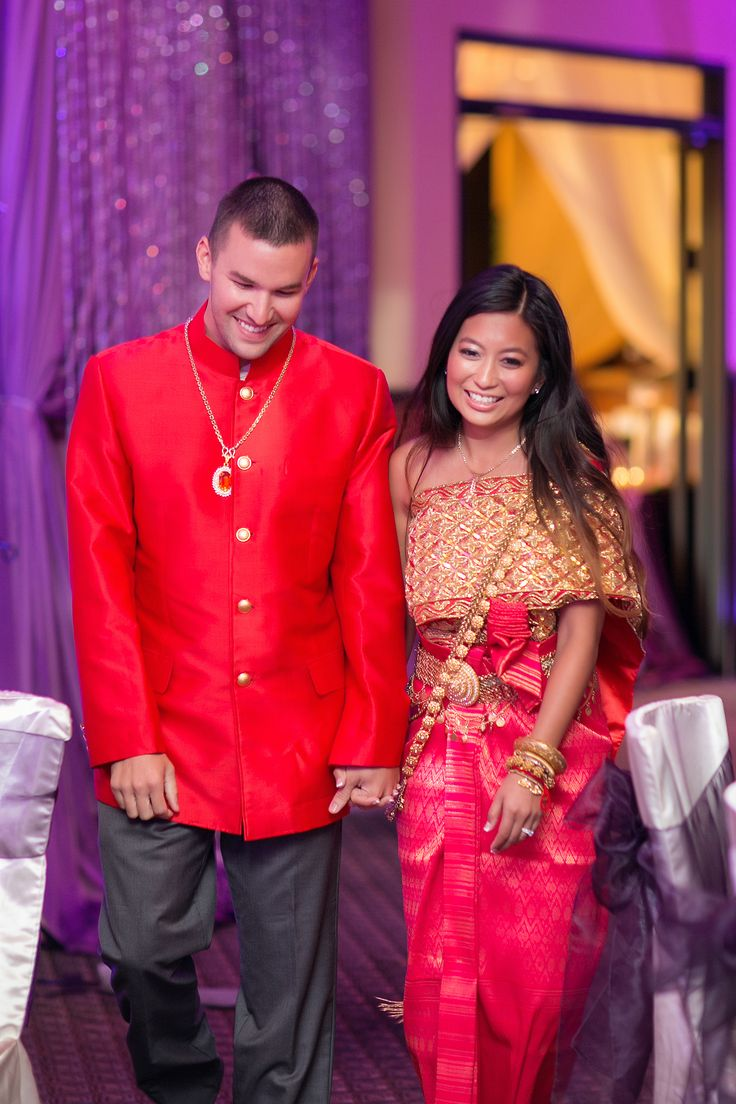 Cambodian wedding red outfits for the reception for Khmer dress for wedding party