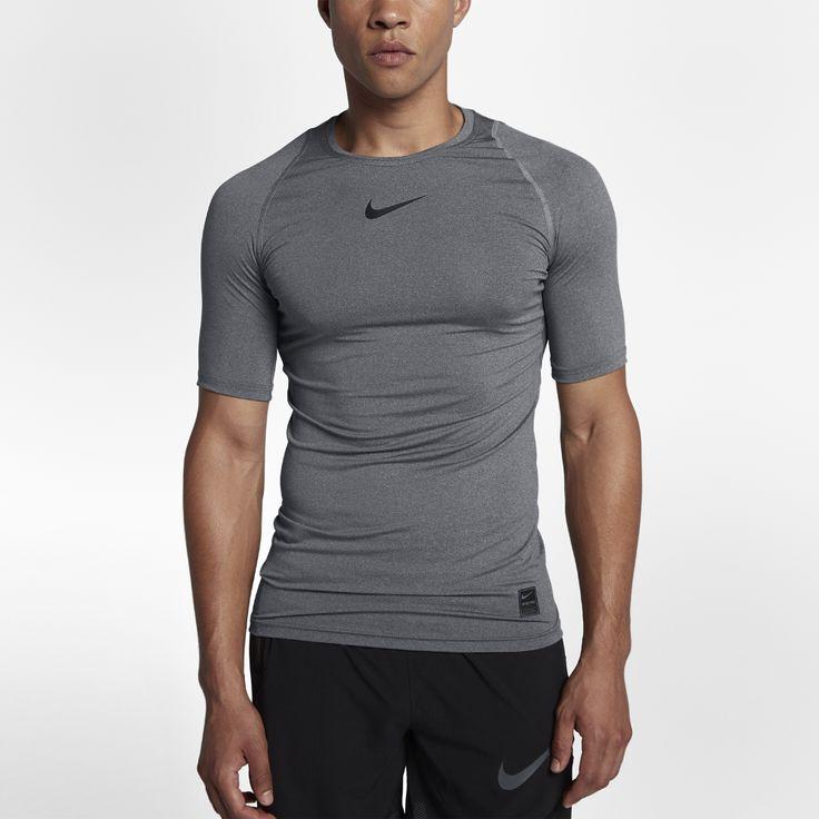 Nike Pro Men's Short Sleeve Training Top Size Medium (Grey)