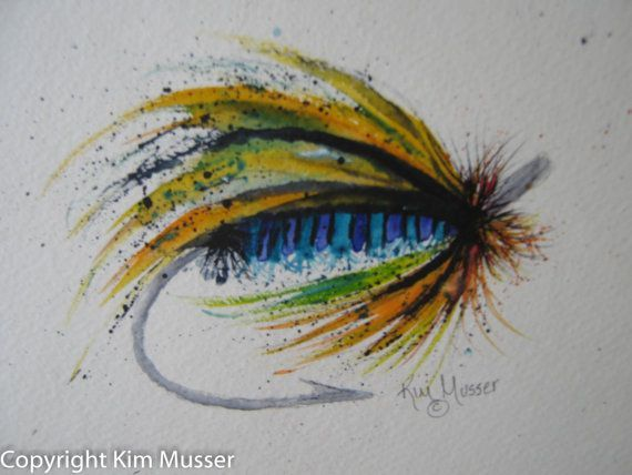 Fishing Fly Trout Fly By Paintingswatercolor On Etsy 40 00 Fly