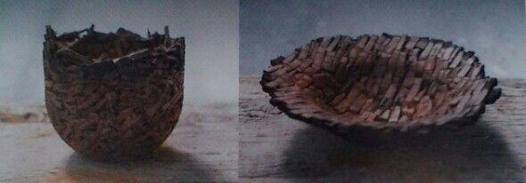 Cork project by Philipp Weber, exposé a la Villa Noailles  Materiaux : liège #designproduct #ecologic #wood