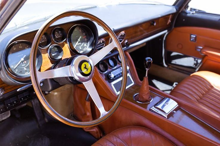 Ferrari Car Interior Oldschool Fancy Old Sport Power