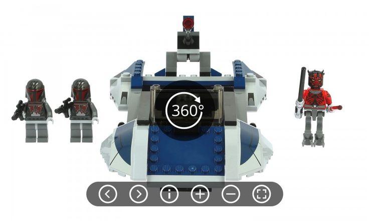 Lego Star Wars Mandalorian Speeder 75022 360 product view