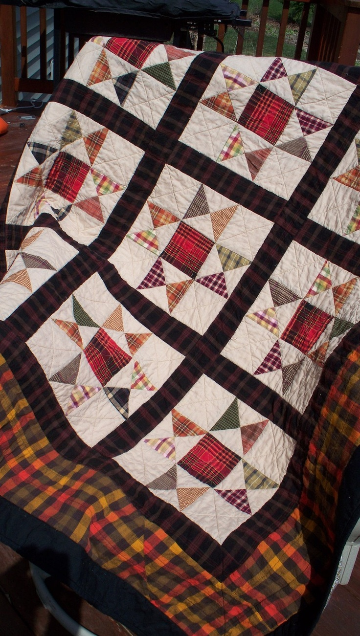 Evening Star 52 In Plaid Cabin Quilt Quilt Shirts And