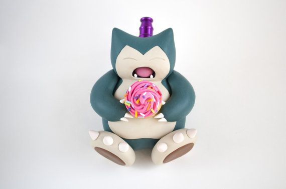 Snorlax Pipe / MADE to ORDER / Pokemon Polymer by IndicaPlateau