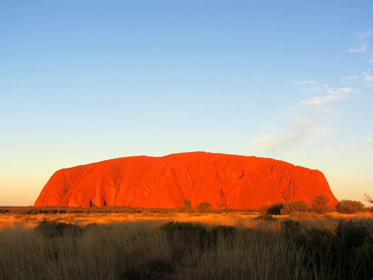 Uluru - a sacred place to the Australian aboriginal people.
