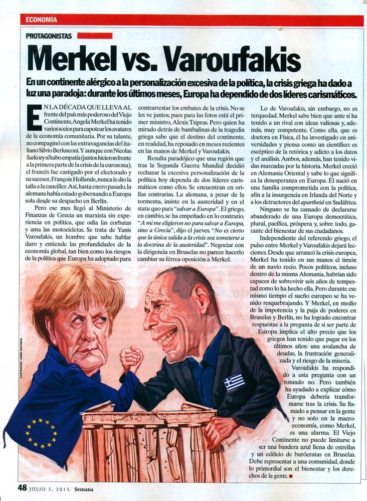 Merkel vs Varoufakis