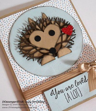Thoughtful Branches hedgehog card by Judy Strickling, share by Dawn Olchefske #dostamping #stampinup