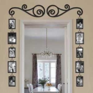 Great Idea: Frame a doorway with picture frames. by susangir