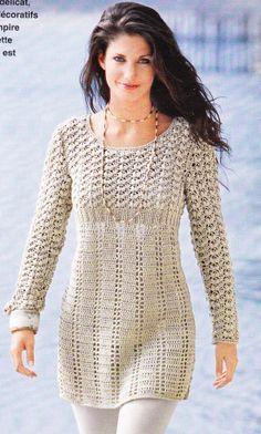 tuto tricot tunique femme