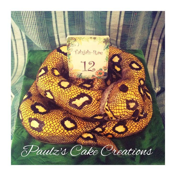 Python Snake Cake