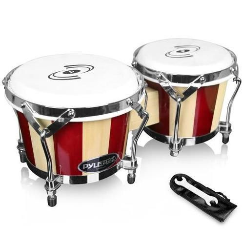 Hand-Crafted Wooden Bongos - Bongo Drums