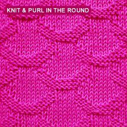 [Knit and purl stitch in the round] Scale stitch pattern
