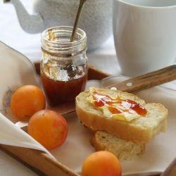 Yellow plum and orange jam