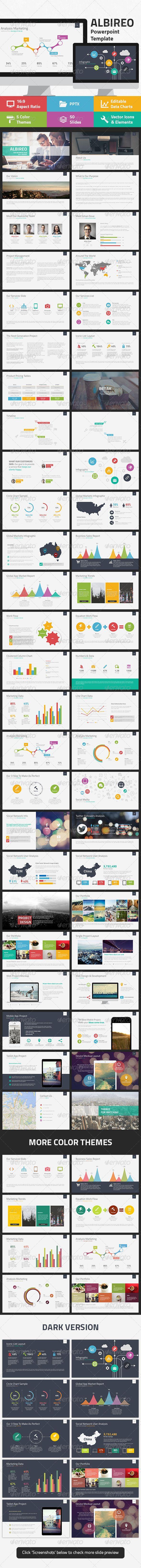 Albireo Powerpoint Template - Business Powerpoint Templates