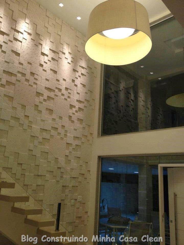 Lindas, mistura da rusticidade com o moderno!    Nos projetos atuais, o que mais vemos é o uso das pedras para decorar as paredes! Seja n...
