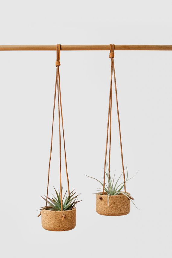 Cork Hanging Planter by MelanieAbrantes on Etsy