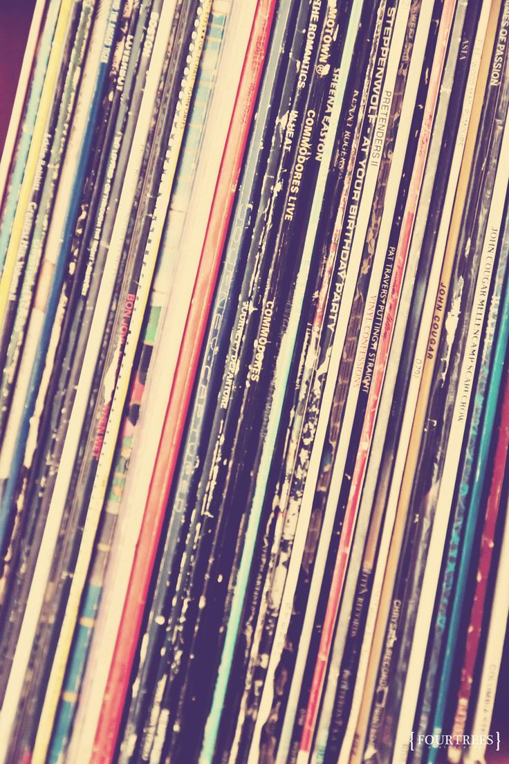 Music Is Love - 8x12 Vinyl records record collection photography