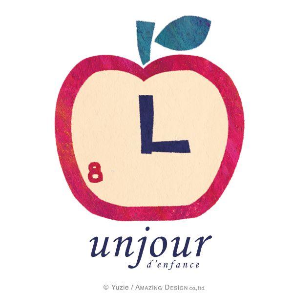 """おしゃれで可愛いデザイン""""アンジュール""""のロゴ誕生! The logo that is My brand """"unjour"""".    #illustrator #illustration #creator #design #designer #kawaii #pretty #unjour #かわいい #可愛い #メルヘン #イラスト #おしゃれ"""