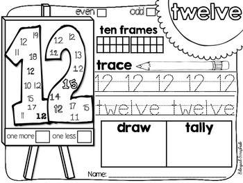 *Bilingual Scrapbook* The Art Of Numbers {Number Practice 11-20}